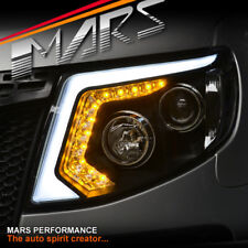 Black DRL LED Projector Head Lights & LED Indicator for Ford Ranger PX MK1 11-15