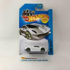 Lamborghini Sesto Elemento #39 * White * 2014 Hot Wheels * NB2
