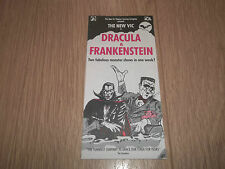 "THEATRE ROYAL BATH "" DRACULA & FRANKENSTEIN "" THEATRE HANDBILL / FLYER"