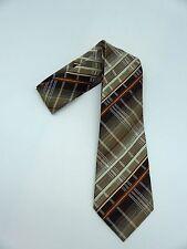True Vintage C&A Polyester brown stripe/tartan neck tie