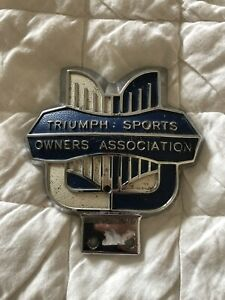 Triumph Sports Owners Ass Grill Badge - Vintage / Classic Triumph Car -Very Rare