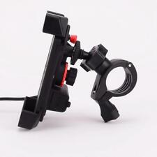 Motorcycle Retractable Smart Phone Cradle Holder Bracket with USB Charger