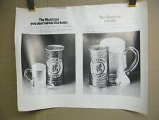 Rare 1970'S F. X. Matt Brewing Co. Maximus Super Beer Poster Utica Club New York