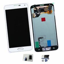 Touch Screen Vetro Samsung Galaxy S5 G900F LCD Display + Schermo Ricambio Bianco