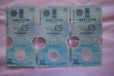 More details for 3 x northern bank ltd five £5 pound banknotes:  mm1555158,  y2k06829  &  n192529