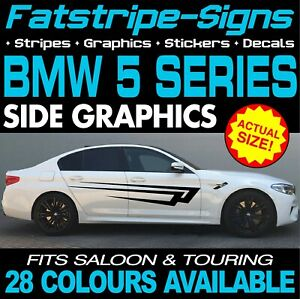 BMW 5 SERIES GRAPHICS STRIPES STICKERS DECALS M5 GT M SPORT SALOON TOURING 520d