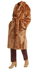 TIBI oversized trench FAUX FUR coat SIZE S