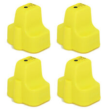 4 PK YELLOW Printer Ink with Chip fits HP 02 PhotoSmart C7200 C7250 +More