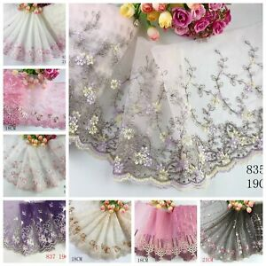 1 Yard Delicate  Embroidered Flower Tulle Lace trim Wedding/sewing/craft Lace 63
