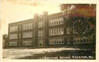 Central School Grundy County 1940s Trenton Missouri RPPC Photo Postcard 11580