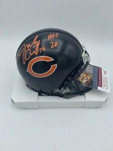 Jim Covert Signed Chicago Bears Mini Helmet HOF '20 Insc JSA COA - Photo