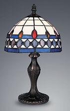 STYLE TIFFANY UNIQUES Verre Teinté LAMPE BUREAU TABLE - 7.87'' large