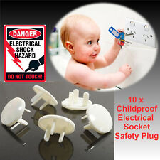 NEW 10PCS CHILD SAFETY ELECTRIC SOCKET PLUG  OUTLET PROTECTOR COVERS SHOCK GUARD