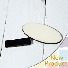 Blank Dye Sublimation Printable Oval Name Badge Clam Heat Press - HBXP03