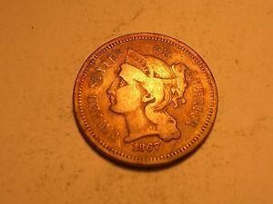 1867 Three Cent Piece (Fine & Attractive)