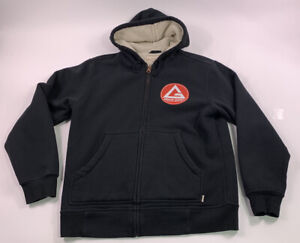 Gracie Barra Ju Jitsu Hoodie Black sweatshirt shirt Brazil mma Medium Bjj Carlos