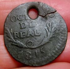 1815 (MEXICO) DURANGO 1/8 REAL OCTAVO (MEXICO) WAR of INDEPENDENCE-full Date--