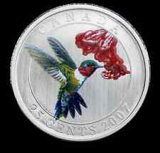 2007 Ruby-throated Hummingbird 25 Cents Coin