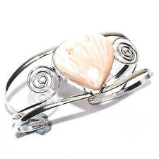 Rhodochrosite Gemstone 925 Silver Jewelry Adjustable Cuff