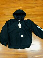 Carhartt J131 Thermal Lined Duck Active Jacket Black Made in USA