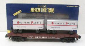 American Flyer 6-48532 Southern Pacific Flatcar w/Piggyback Trailors MT/Box