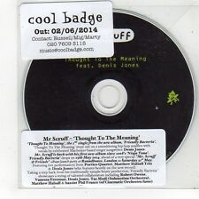 (FS626) Mr Scruff, Thought To The Meaning - 2014 DJ CD