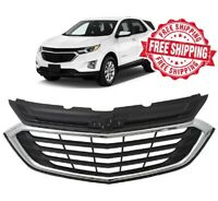 For 2018 2019 2020 Chevrolet Equinox Grille Front Upper Black Grill Chrome Trim
