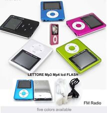 MINI LETTORE MP4 PLAYER ALLUMINIO USB lcd support schede MICRO SD TF fino a 32GB