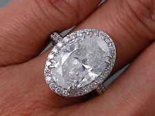 6.67 Ctw Oval Cut Diamond Ring D-Si3 Looks Huge Low Price $29,990