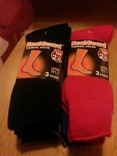 6 x PAIRS OF LADIES HEATGUARD THERMAL SOCKS FOR 4 X MORE HEAT INSULATION TOG 2.0