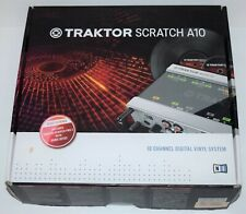 Native Instruments Traktor Scratch A10 10CH Digital Vinyl System New in Open Box