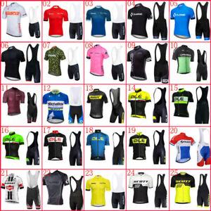Summer New Men Cycling Jersey Set MTB Bike Shirt Bib Shorts Suit Bicycle Outfits