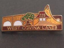 Vintage 225 West Covina Lanes Bowling Lapel Hat Pin Tie Tac Tack Badge