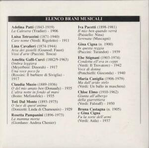 Recital * musica lirica * opera*  1 CD VIRTUOSE, PRIMEDONNE ecc