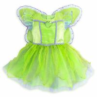 Disney Store Tinkerbell Fairy Princess Deluxe Dress Baby Costume Wings Halloween