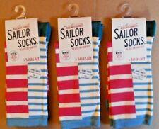 3 Pares de Calcetines de Bambú para mujer Sailor Seasalt Talla 3-8 Reino Unido 36-42 Bretón rojizo
