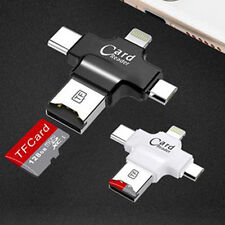 NEW Muti-Card Reader Adapter 4 in 1 Lightning Micro type-c  TF / Micro SD Reader
