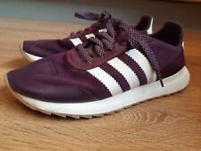 Adidas Burgundy 3 Stripe Trainers Size 6
