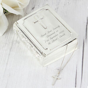 PERSONALISED BIBLE TRINKET First Holy Communion Christening Baptism Gift Idea