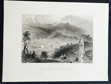 1842 Bartlett Antique Print View of Bolton Pass, Eastern Township, Quebec Canada