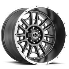 "4-Vision 418 Widow 20x10 6x5.5"" -25mm Gunmetal Wheels Rims 20"" Inch"