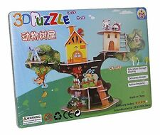 Cabane maison jouet animaux 3D ENFANTS PUZZLE JEU DE NEUF lx-347