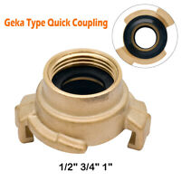 "Brass Hose Connectors/Fittings Geka Type Quick Coupling BSP Female 1/2"",3/4"",1"""