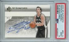 Emanuel Manu Ginobili 2003 04 SP Authentic Signatures Spurs Auto Autograph PSA 9