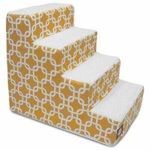 4 Step Portable Pet Stairs By Majestic Pet Products Yellow Links Steps for Ca...