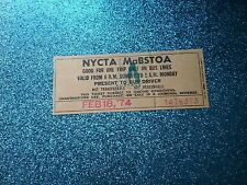 Nycta/MaBstoa Ticket from Feb 18, '74 #1476373 (Very Rare and Mint)