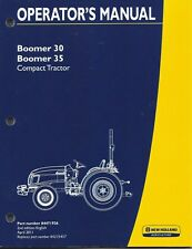 NEW HOLLAND Boomer 30,35  COMPACT TRACTOR OPERATOR MANUAL 84471926