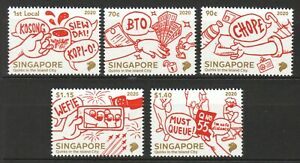 SINGAPORE 2020 QUIRKS IN THE ISLAND CITY COMP. SET OF 5 STAMPS MINT MNH UNUSED