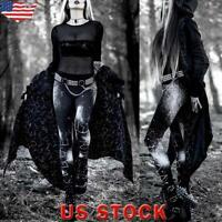 Women's Gothic Steam Punk Leggings Party High Waist Skinny Pants Joggers Trouser