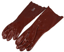 """18"""" PVC Gauntlet Glove Lined Chemical Oil Long Cuff Hand Arm Work Gloves"""